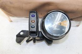 1971 HONDA CB350 TACHOMETER GAUGE W/ PILOT BOX AND GAUGE MOUNT (SYBA)